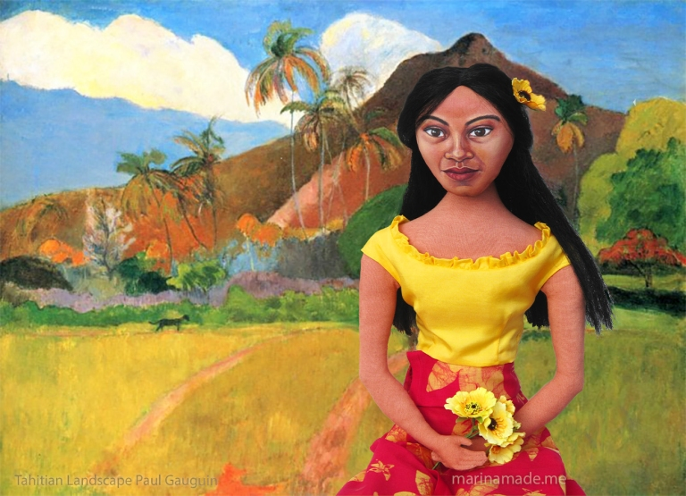 Art Muse doll Teha'amana , first lover and wife of Gauguin.