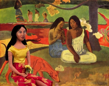 Teha'amana, gauguin's muse and Tahitian wife, art muse by Marina Elphick .