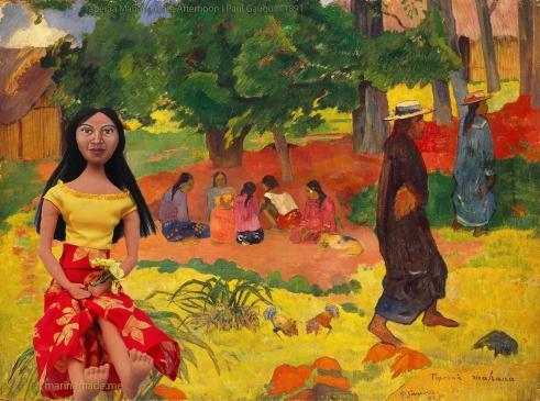 Muse with Taperaa Mahana, by Paul Gauguin.