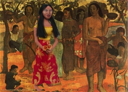 "Teha'amana muse in ""Nave Nave Mahana"" or Delightful days. Art muse made by Marina Elphick."