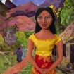 Marina's Art muse Teha'mana, on a road in Tahiti, by Paul Gauguin 1891.