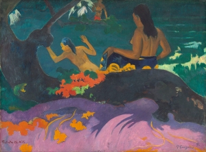 """Fatata te Miti"", or 'By the Sea' Paul Gauguin 1892"