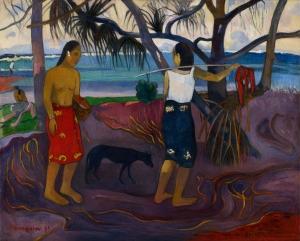 """I Raro te Oviri"" or under the Pandanus, Paul Gauguin 1891"