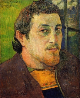 Self Portrait at Lezaven 1888, Paul Gauguin.