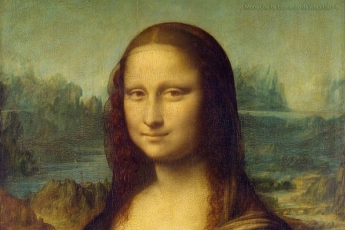 Mona Lisa detail.