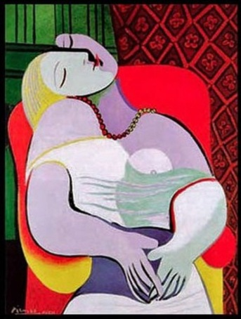 """Le Reve""' or 'the dream', by Picasso, 1932."