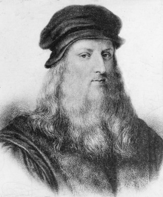 Portrait of Leonardo da Vinci engraved by unknown craftsmanPortrait of Leonardo da Vinci engraved by unknown craftsman.
