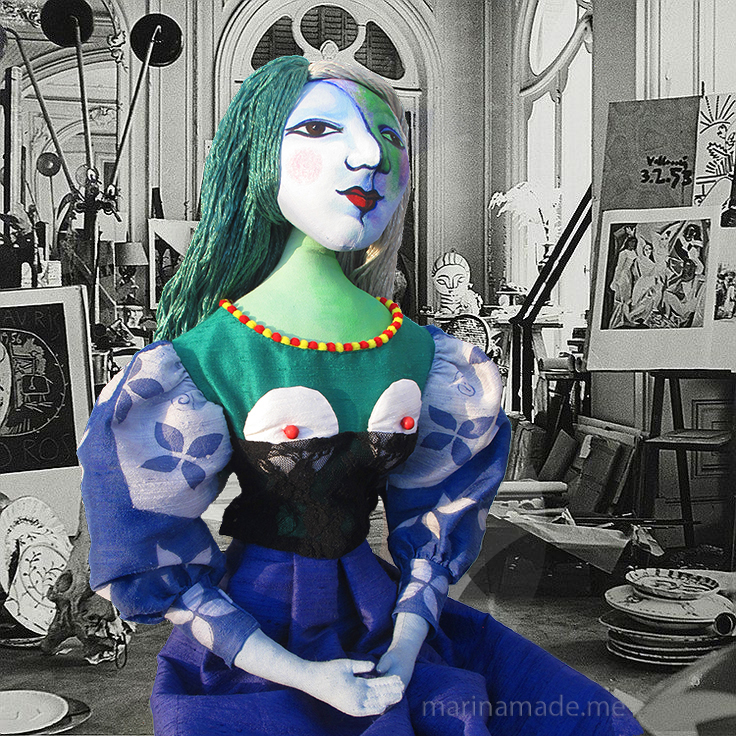 Marie-Thérèse muse in Picasso's studio. Art muses by Marina Elphick.