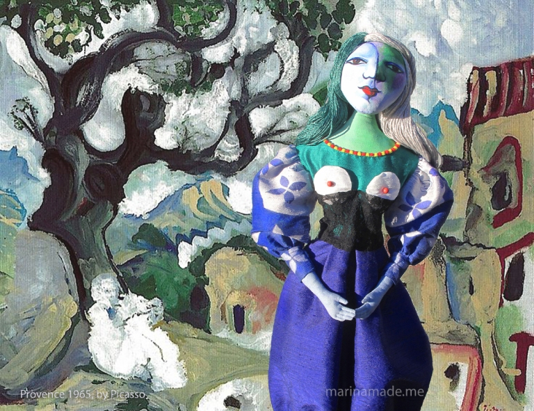 Marina's muse, Marie-Thérèse muse in Provence. Painting by Picasso, 1965. Art muses by Marina Elphick.