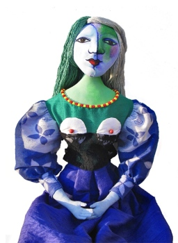 Therese Muse, based on Picasso's paintings of her, made by Marina Elphick, 2017. Marina's Muses.