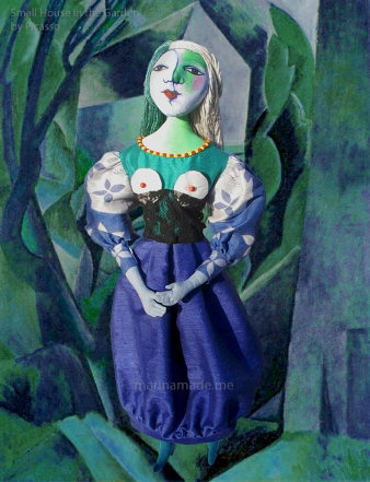 "Marie-Thérèse muse with ""small house in the garden"", Picasso. Art muses by Marina Elphick."