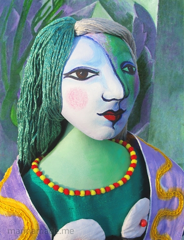 Marie-Thérèse muse made by artist, Marina Elphick. Marina's Muses. Picasso's muse and lover, Marie-Thérèse.