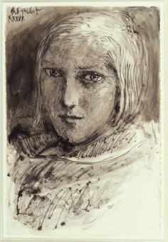 Pen and ink drawing of Marie-Thérèse, by Picasso.