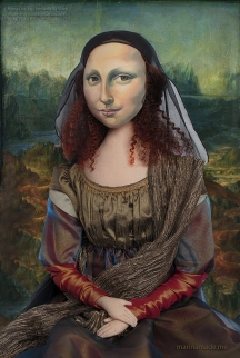 La Gioconda, La Joconde, Lisa Gherardini, or as we all know her, Mona Lisa. A muse made by Marina Elphick on a Photoshop collage of Da Vinci's Mona Lisa oil painting.