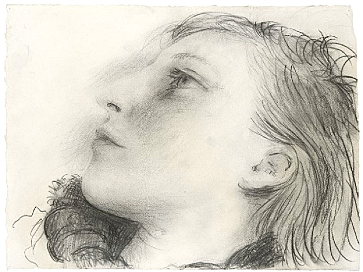 Pencil portrait of Marie-Thérèse, 1935 by Pablo Picasso.