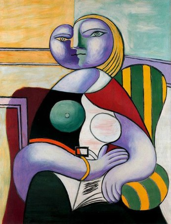 """Woman Reading"" 1932, Pablo Picasso."