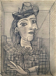 Drawing of Dora Maar 1938, by Picasso.