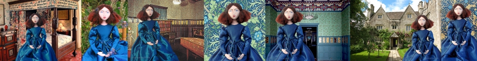 Wife of William Morris and lover of D.G. Rossetti, Jane Morris is re-interpreted in soft sculpted form by Marina Elphick. Unique handmade Art muses, original art works by Marina Elphick.