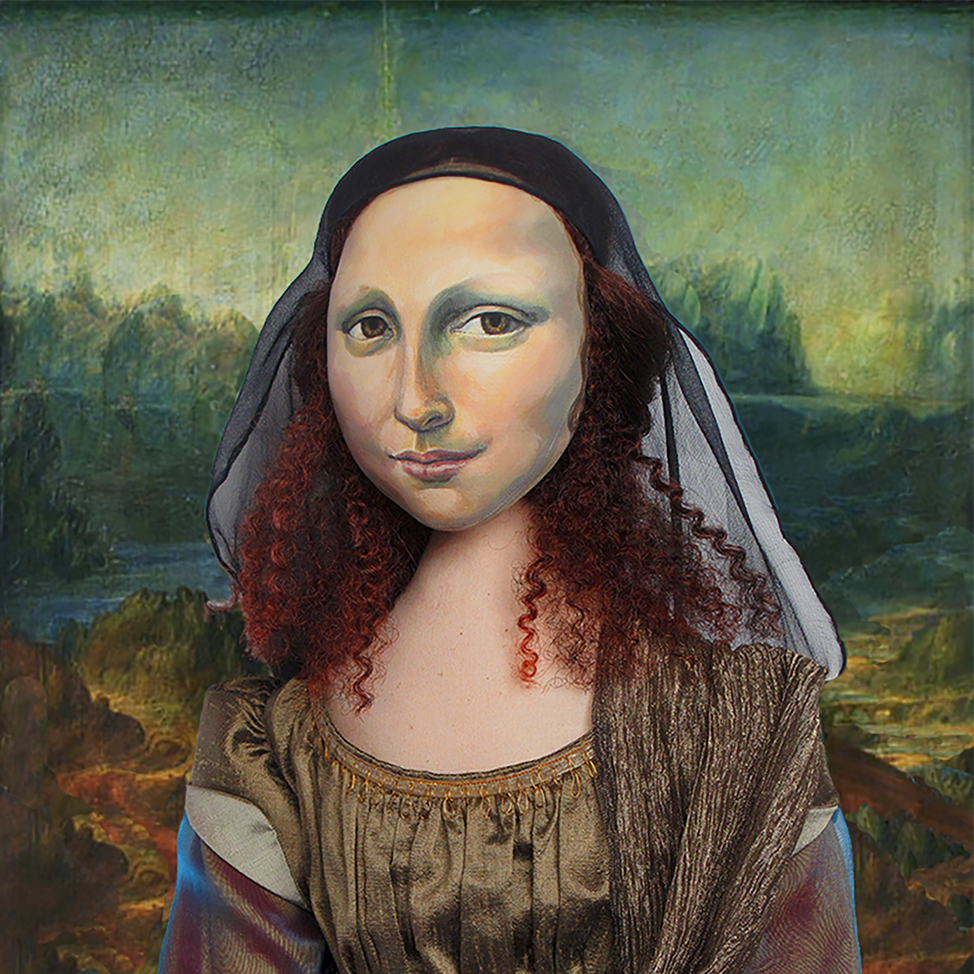 La Gioconda, La Joconde, Lisa Gherardini, or as we all know her, Mona Lisa. A muse made by Marina Elphick on a Photoshop collage of Da Vinci's Mona Lisa oil painting.