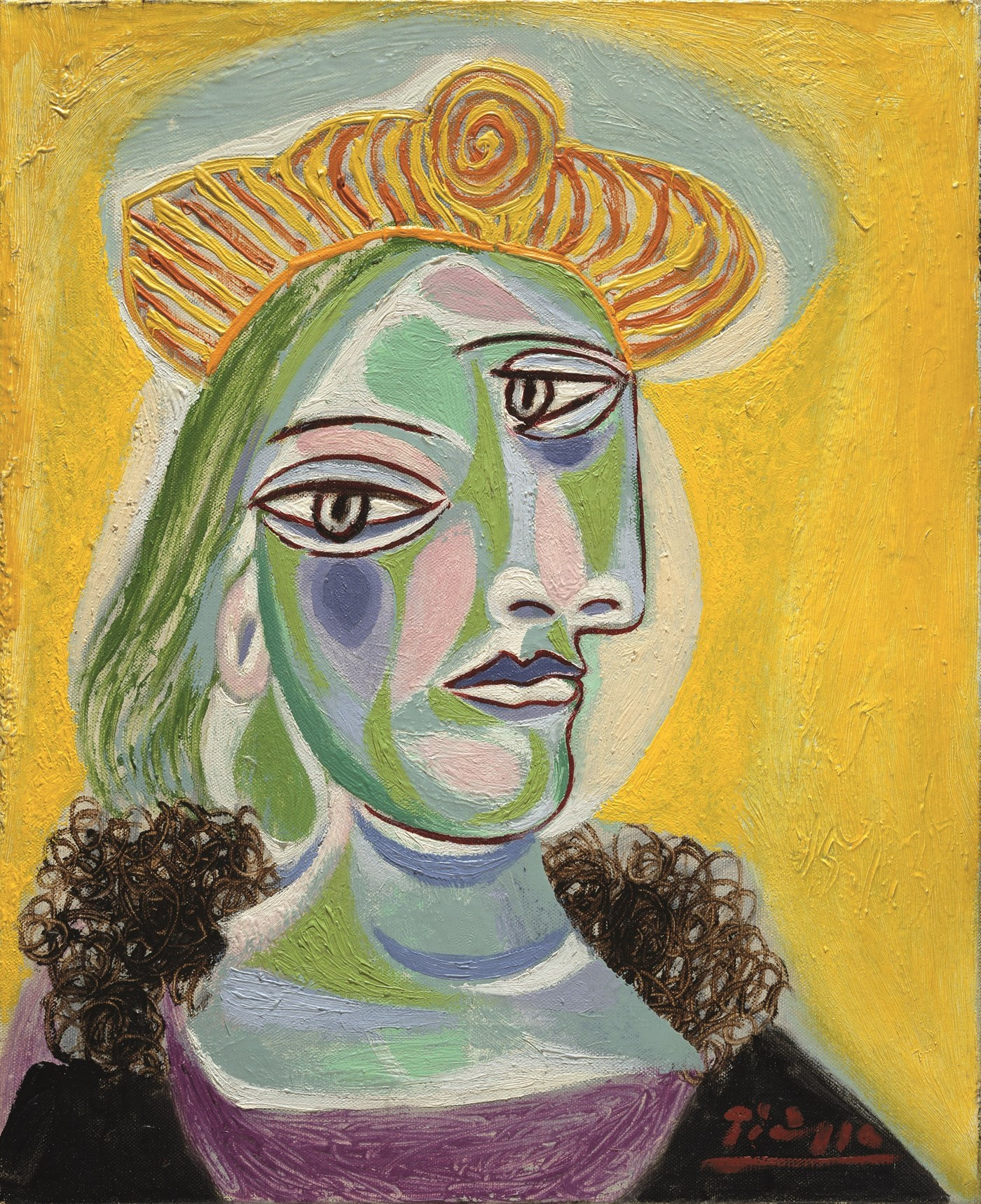Pablo picasso bust of a woman dora maar 1938 marina for Picasso painting names