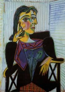 Portrait of Dora Maar, 1937 by Pablo Picasso.