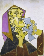 Pablo Picasso. Weeping Woman with handkerchief III,