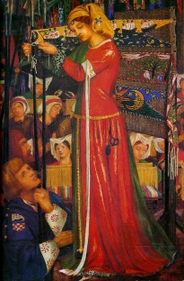 Before the Battle by Rossetti 1858