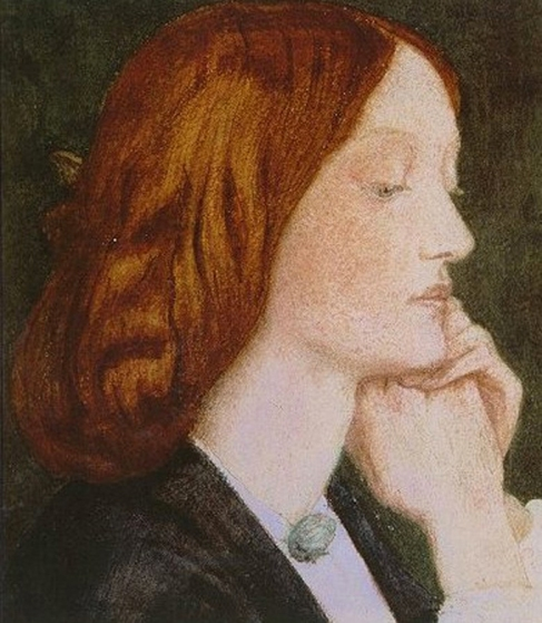 Elizabeth Siddal, 1854 watercolour by Dante Gabriel Rossetti.