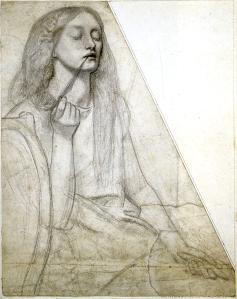 Dante Gabriel Rossetti, Study of Elizabeth Siddal as Delia.