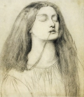 Drawing for Delia, by Rossetti.