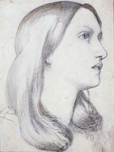 Drawing of Elizabeth Siddal, by Dante Gabriel Rossetti.