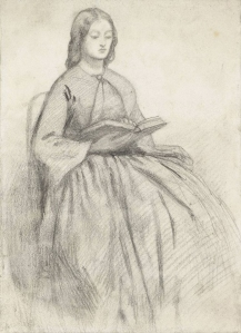 Elizabeth Siddal in a Chair, date unknown.
