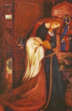 """Lady Clare"", painted by Elizabeth Siddal."