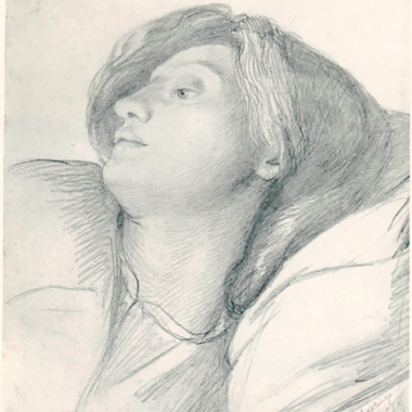 Lizzie in hastings, 1860, by Rossetti.