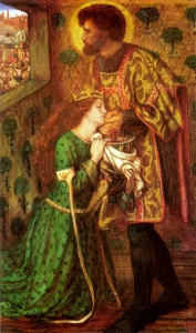 "Elizabeth Siddal as princess Sabra, in Rossetti's ""Saint george and the princess sabra"". Lizzie modelled for Princess Sabra, only days before taking an overdose of laudanum."