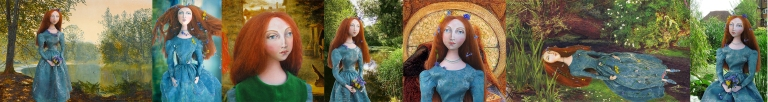 Marina Elphick's muse of Lizzie Siddal, Pre-Raphaelite model and muse.