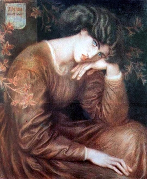 Reverie by Dante Rossetti, model Jane Morris 1868