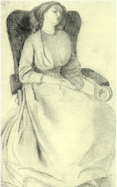 Drawing of Lizzie Siddal, date unknown.