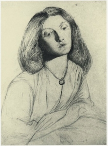 Sketch of Lizzie Siddal by Rossetti.