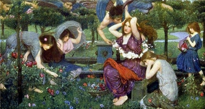 Flora and the Zephyrs 1897, John William Waterhouse.