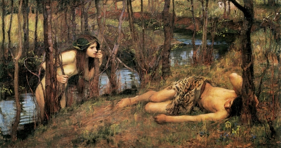 """Hylas with a Nymph"" by John William Waterhouse, 1893."