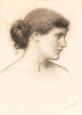 "Head Study for ""A Tale from the Decameron"",1915 by J.W. Waterhouse."