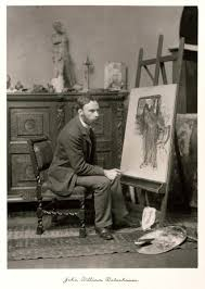 John William Waterhouse in his studio, by Ralph Winwood Robinson 1900.