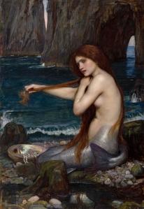 """""""Mermaid"""" by William Waterhouse, 1900."""