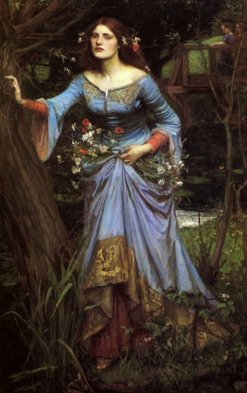 """Ophelia"" by John William Waterhouse."