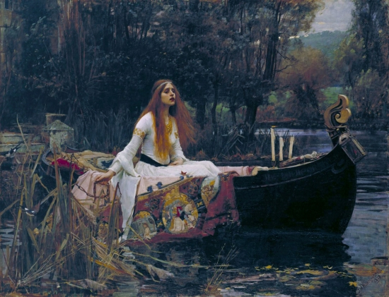 """The Lady of Shalott"", 1888 by John William Waterhouse. Marina's muse based on Lady of Shalott."