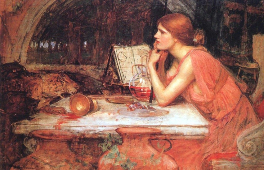 The Sorceress 1913 by John William Waterhouse.