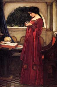 "J.W. Waterhouse, ""The Crystal Ball"", 1902."