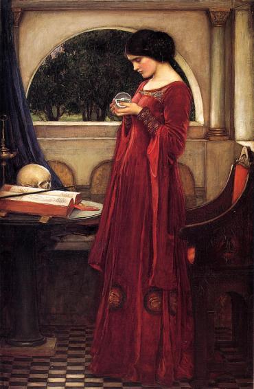 "J.W. Waterhouse, ""The Crystal Ball"", 1902."