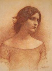 J.W.Waterhouse drawing